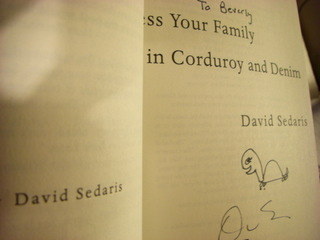 Signed by David Sedaris